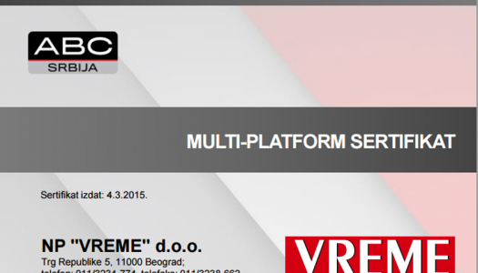 Multiplatform sertifikat za Vreme